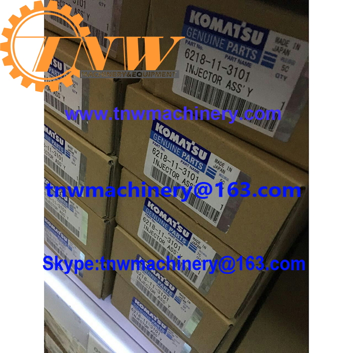 KOMATSU 6218-11-3101 injector assy DENSO PN 095000-0562 for D155AX-5